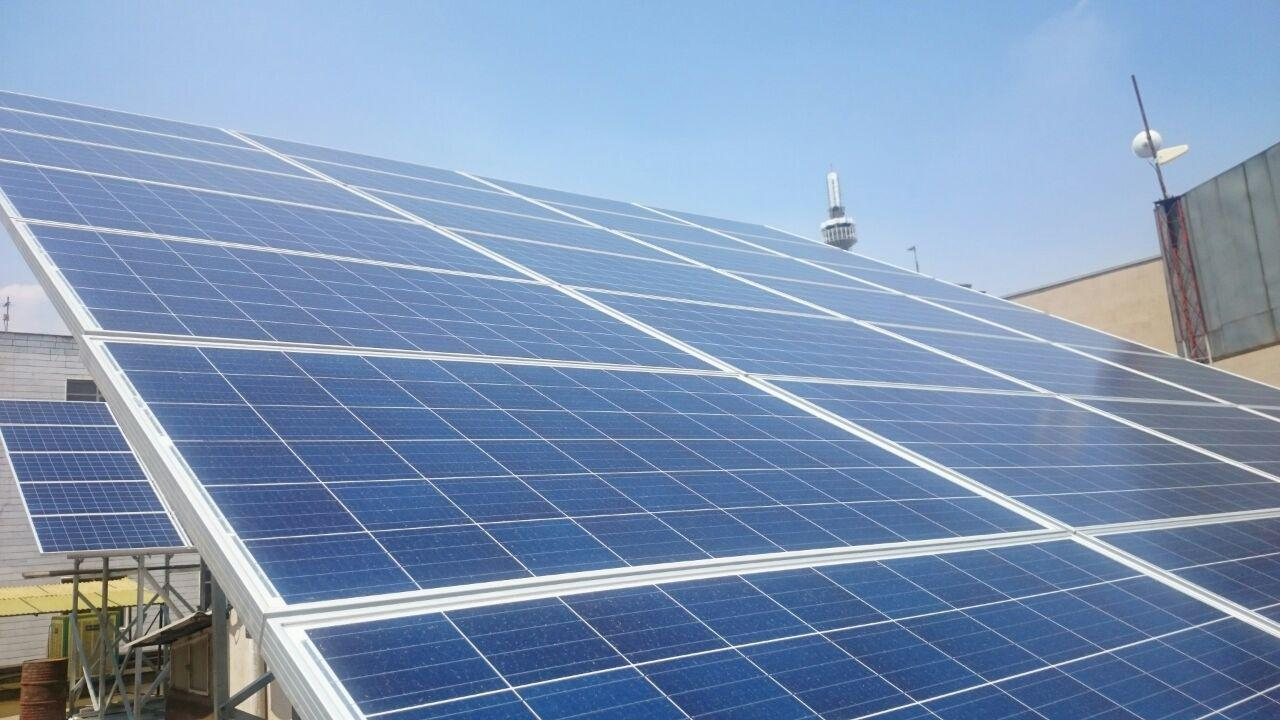 ۲۰kW Roof-Top Photovoltaic System at Gam head office in Tehran